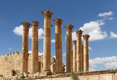 Temple of Zeus, Jordanian city of Jerash  (Gerasa of Antiquity), Jordan Royalty Free Stock Photography