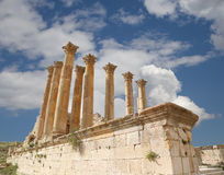 Temple of Zeus, Jordanian city of Jerash  (Gerasa of Antiquity), Jordan Stock Photos