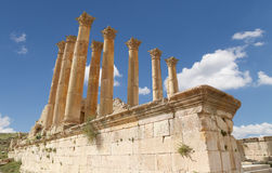 Temple of Zeus, Jordanian city of Jerash  (Gerasa of Antiquity), Jordan Stock Image