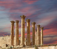 Temple of Zeus, Jordanian city of Jerash  (Gerasa of Antiquity), Jordan Royalty Free Stock Image