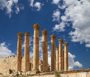 Temple of Zeus, Jordanian city of Jerash  (Gerasa of Antiquity), Jordan Royalty Free Stock Images