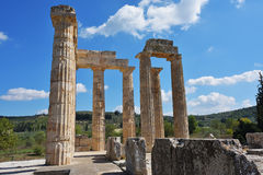 Temple of Zeus in Nemea, Peloponnese, Greece Royalty Free Stock Photos