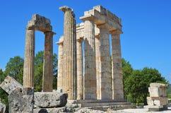 Temple of Zeus in Nemea, Peloponnese, Greece Stock Image