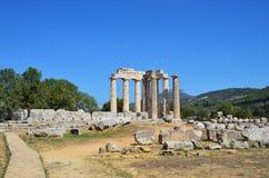 Temple of Zeus in Nemea, Peloponnese, Greece Stock Photos