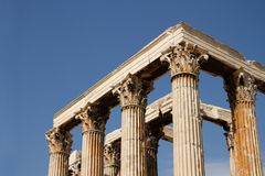 Temple of Zeus Olympian in Athens Stock Image