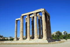 Temple of Zeus Olympian. The ruin of Temple of Zeus Olympian in Athens, Greece Royalty Free Stock Photography