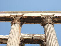 The Temple of Zeus Olympic in Athens, Greece Royalty Free Stock Image