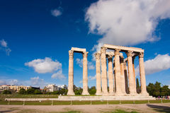 Temple of Zeus over blue sky Royalty Free Stock Photo