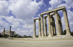 The temple of Zeus ruin Stock Images