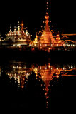 Temple1. Jongklang Temple. Thailand temple at night Stock Photography
