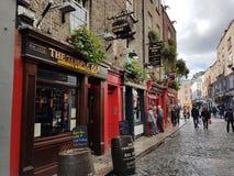 TempleBar寺庙酒吧Dublino都伯林夜音乐假日 免版税库存图片