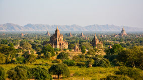Templefield of Bagan. Ancient Land of Bagan from Shwesandaw Temple, Bagan Stock Photography