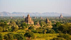 Templefield de Bagan photographie stock
