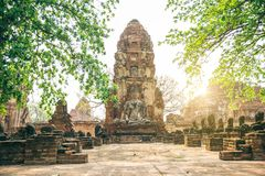 Templein Ayutthaya Royalty Free Stock Images