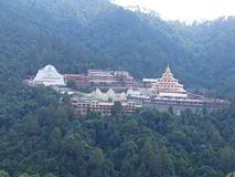 Temple view in Himalaya MOUNTAIN royalty free stock photography