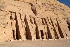 Templen av Abu Simbel i Egypten Arkivfoton