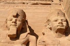 Templen av Abu Simbel i Egypten Arkivbild