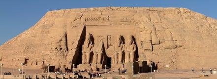 Templen av Abu Simbel i Egypten Royaltyfria Bilder