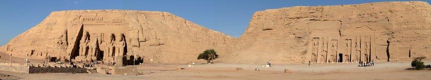 Templen av Abu Simbel i Egypten Royaltyfri Fotografi