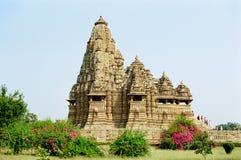 Temples érotiques de l'Inde dans Khajuraho Images libres de droits