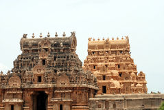 Temples. Hindhu temples in south india Royalty Free Stock Images