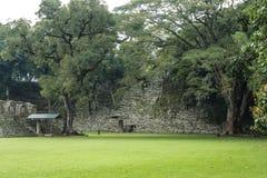 Temples abandonnés, ruines de Copan, Honduras Image stock