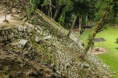 Temples abandonnés, ruines de Copan, Honduras Photo stock