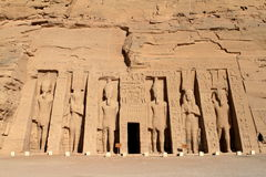 The temples of Abu Simbel in Egypt Royalty Free Stock Images