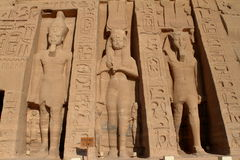 The temples of Abu Simbel in Egypt. The Ramses temples of Abu Simbel in Egypt stock image
