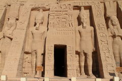 The temples of Abu Simbel in Egypt. The Ramses temples of Abu Simbel in Egypt stock photo