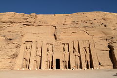 The temples of Abu Simbel in Egypt. The Ramses temples of Abu Simbel in Egypt royalty free stock image