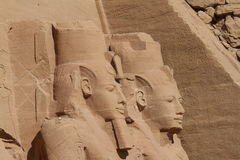 The temples of Abu Simbel in Egypt. The Ramses temples of Abu Simbel in Egypt royalty free stock images