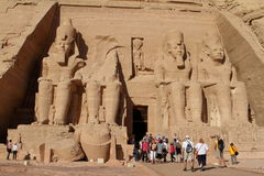 The temples of Abu Simbel in Egypt Royalty Free Stock Image