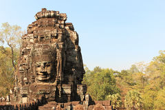 Temples of Angkor - Faces of Bayon temple Royalty Free Stock Images