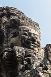 Temples of Angkor - Faces of Bayon temple Stock Photography