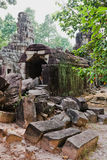 Temples of Angkor Wat, Cambodia Royalty Free Stock Photography