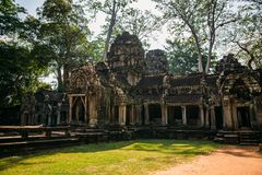 Temples Angkor Wat in Cambodia, ta Prohm, Siem Reap stock photo