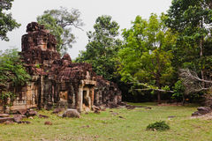 Temples antiques d'Angkor Vat, Cambodge Photographie stock