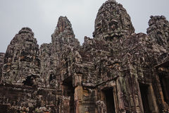 Temples antiques d'Angkor Vat, Cambodge Photos stock