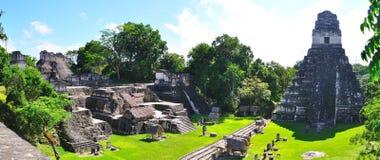 Temples antiques de Maya de Tikal, Guatemala Photographie stock libre de droits