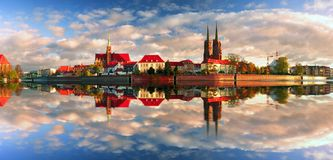 Temples antiques Wroclaw images stock
