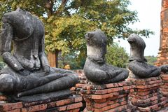 Temples in Ayuttaya Stock Photo