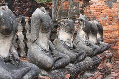 Temples in Ayuttaya Stock Photography