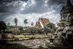 Temples of Ayutthaya. Wat Phra Si Sanphet and Phra Nakhon Si Temples in Ayutthaya, Thailand Royalty Free Stock Image