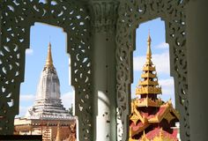 Temples in Bagan. Ancient temples in Bagan (Myanmar Stock Photo