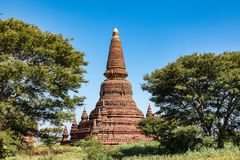 Temples of Bagan in the Mandalay Region of Burma, Myanmar. Temples of Bagan, an ancient city located in the Mandalay Region of Burma, Myanmar, Asia royalty free stock photos