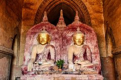 Temples of Bagan in the Mandalay Region of Burma, Myanmar. Temples of Bagan, an ancient city located in the Mandalay Region of Burma, Myanmar, Asia stock photos