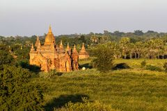 Temples of Bagan in the Mandalay Region of Burma, Myanmar. Temples of Bagan, an ancient city located in the Mandalay Region of Burma, Myanmar, Asia royalty free stock photography