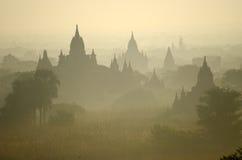 Temples of Bagan in early morning. Myanmar (Burma) Stock Image