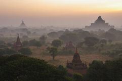 Temples of Bagan in early morning. Myanmar. Stock Images